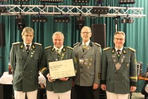 v.l.n.r.: Hans-Jürgen Lissner, Franz Becker, Franz-Josef Hallstein und Hans-Peter Schulze